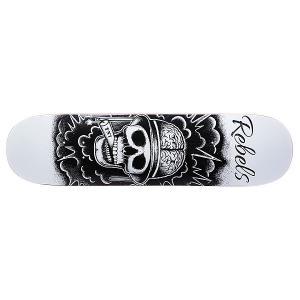 Дека для скейтборда  TNT Fiberglass White 31.75 x 8.1 (20.6 см) Rebels. Цвет: черный,белый