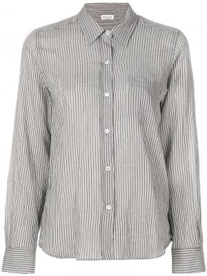 Приталенная рубашка в полоску Masscob. Цвет: серый