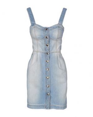 Короткое платье ALEXANDER TEREKHOV. Цвет: синий
