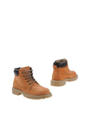 Полусапоги и высокие ботинки ROMAGNOLI. Цвет: желто-коричневый
