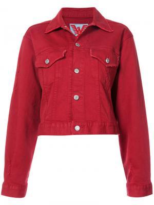 Classic denim jacket Adaptation. Цвет: красный