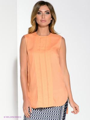 Блузка Pompa. Цвет: оранжевый