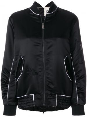 Куртка-бомбер на молнии 8pm. Цвет: чёрный