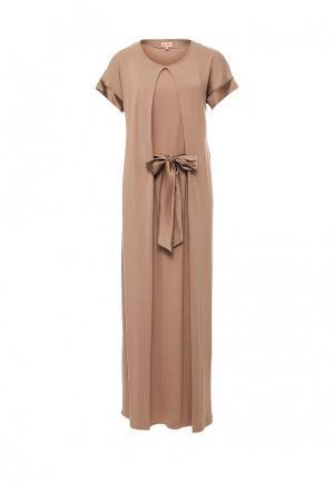 Платье домашнее Petit Pas. Цвет: коричневый