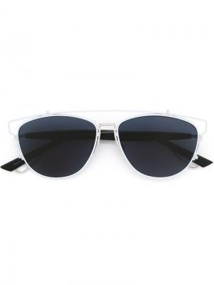 Солнцезащитные очки Technologic Dior Eyewear. Цвет: синий
