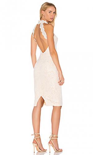 Платье meagan Elle Zeitoune. Цвет: белый