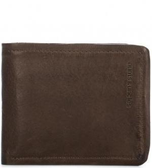 Коричневое портмоне из натуральной кожи aunts & uncles. Цвет: коричневый