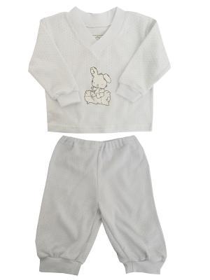 Пижама NICE-KID. Цвет: белый, голубой