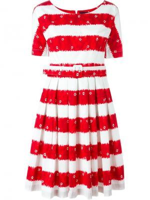 Полосатое платье May Samantha Sung. Цвет: белый