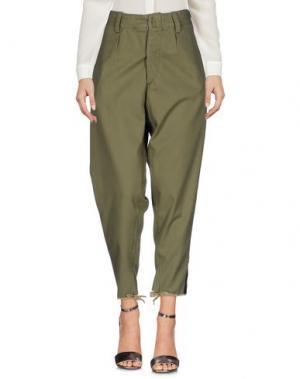 Повседневные брюки MPD BOX. Цвет: зеленый-милитари