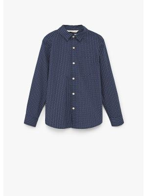 Рубашка - DAMIAN8 Mango kids. Цвет: темно-синий