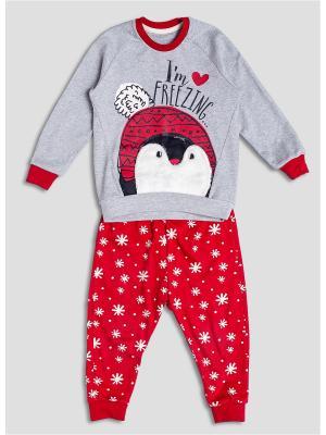 Пижама Extreme Intimo. Цвет: красный, светло-серый