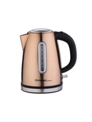 Чайник FIRST 5410-9-BZ , стальной. Цвет: бронзовый