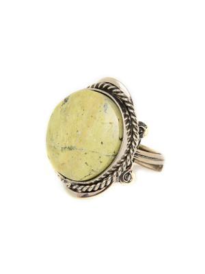 Перуанское винтажное кольцо с яшмой Indira. Цвет: бежевый, темно-бежевый