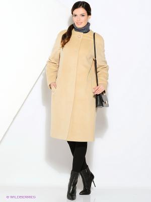 Пальто Gamelia. Цвет: бежевый