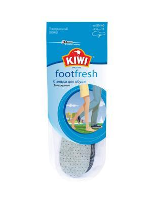 Стельки хлопчатобумажные для жаркой погоды KIWI. Цвет: голубой