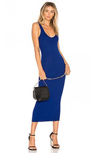 Платье-майка Enza Costa. Цвет: королевский синий