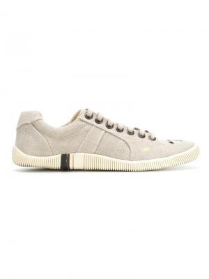 Кроссовки с панельным дизайном Osklen. Цвет: телесный