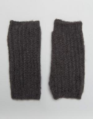 Boardwalk Вязаные перчатки без пальцев Boardmans. Цвет: серый