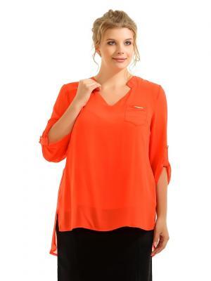 Блузка Maria. Цвет: оранжевый