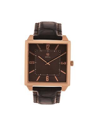 Часы ювелирные коллекция Q-Four, QWILL, Часовой завод Ника QWILL. Цвет: коричневый