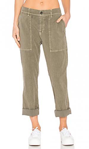 Рабочие брюки James Perse. Цвет: военный стиль