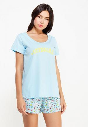 Пижама Vis-a-Vis. Цвет: голубой