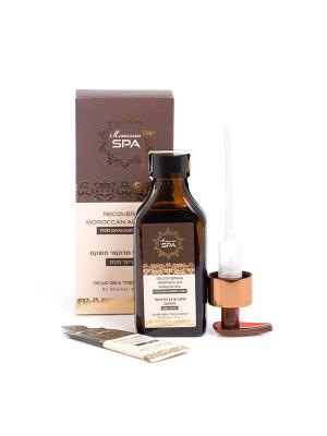 Масло Moroccan SPA восстанавливающее  для поврежденных волос 100мл Shemen Amour. Цвет: белый