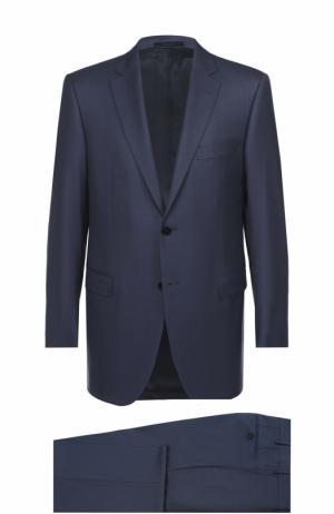 Шерстяной костюм с пиджаком на двух пуговицах Lanvin. Цвет: синий