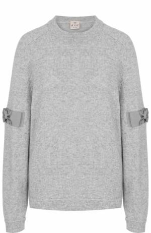 Пуловер из смеси кашемира и лиоселла FTC. Цвет: серый