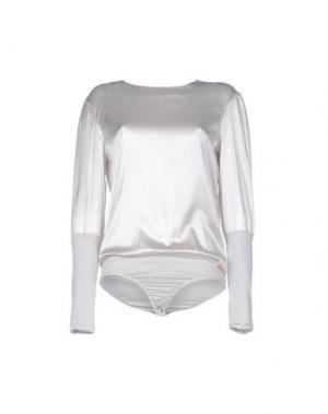 Блузка MISS MONEY. Цвет: светло-серый