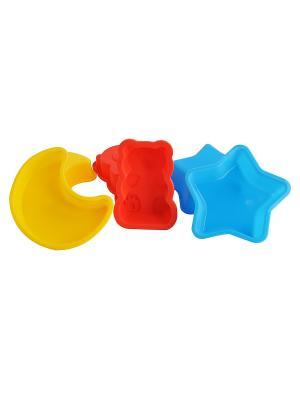 Набор форм для выпечки Regent inox. Цвет: голубой, красный, желтый
