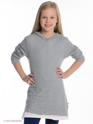 Джемпер Hoodie dress Appaman. Цвет: серый, молочный