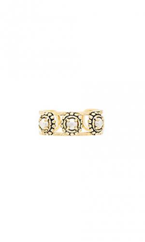 Кольцо the versailles pearl Luv AJ. Цвет: металлический золотой