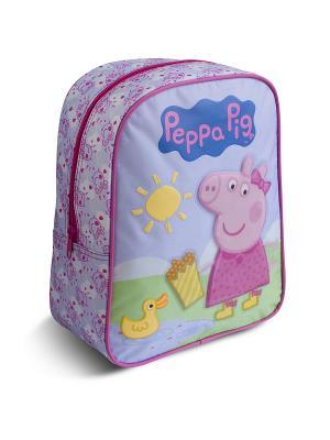 Рюкзачок средний Свинка Пеппа Утка Peppa Pig. Цвет: сиреневый, розовый, синий