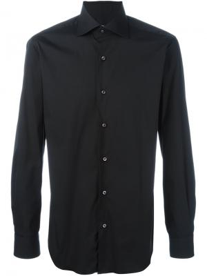 Классическая рубашка Barba. Цвет: чёрный