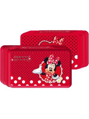 Пенал двухсекционный Минни Disney. Цвет: красный, белый, черный
