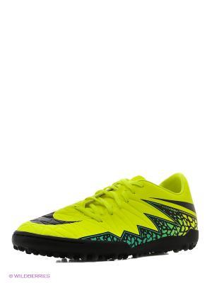Шиповки HYPERVENOM PHELON II TF Nike. Цвет: желтый