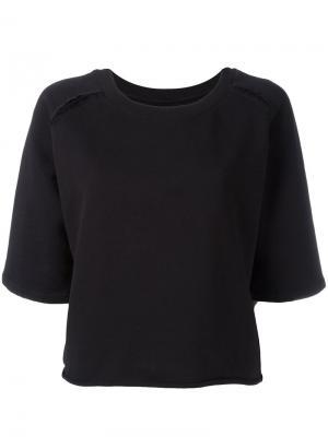 Расклешенная футболка Thom Krom. Цвет: чёрный
