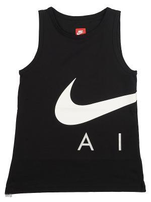 Майка B NK AIR TANK HYBRID Nike. Цвет: черный
