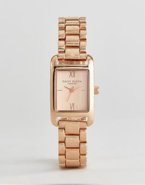 Daisy Dixon Золотисто-розовые наручные часы. Цвет: золотой