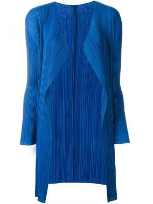 Плиссированный кардиган Pleats Please By Issey Miyake. Цвет: синий