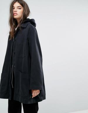 Weekday Джинсовая спортивная куртка Sarin. Цвет: черный