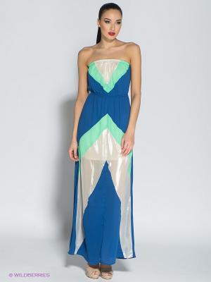 Платье Eunishop. Цвет: синий, зеленый
