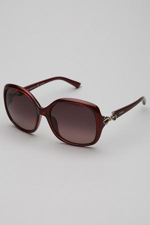 Очки солнцезащитные Valentino. Цвет: красный