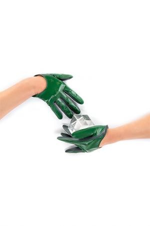 Перчатки Michel Katana. Цвет: изумрудный, мховый