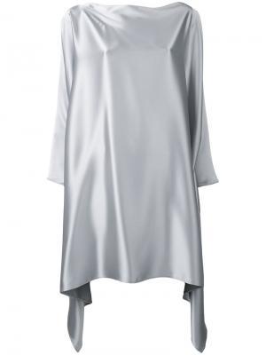 Платье с асимметричным подолом Gianluca Capannolo. Цвет: серый