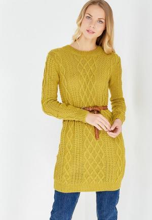 Платье MKM. Цвет: желтый
