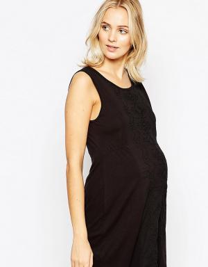 Ripe Платье-туника для беременных Maternity Sorrento. Цвет: черный