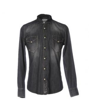 Джинсовая рубашка CYCLE. Цвет: свинцово-серый